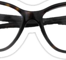 Tortoiseshell Glasses Designer Sticker Sticker