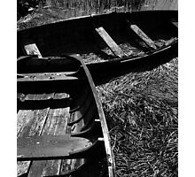 Rowboats in reeds Photographic Print