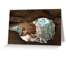 Sandstone Caves NSW AUSTRALIA Greeting Card