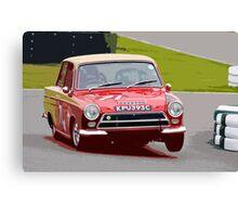 Lotus Cortina at Goodwood Canvas Print
