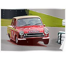 Lotus Cortina at Goodwood Poster