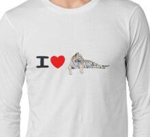 I love Tigers (long) Long Sleeve T-Shirt