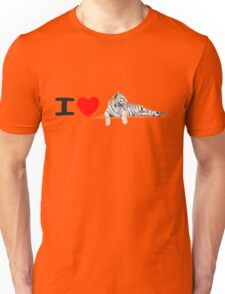 I love Tigers (long) Unisex T-Shirt
