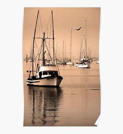 Dawn at Morro Bay Poster