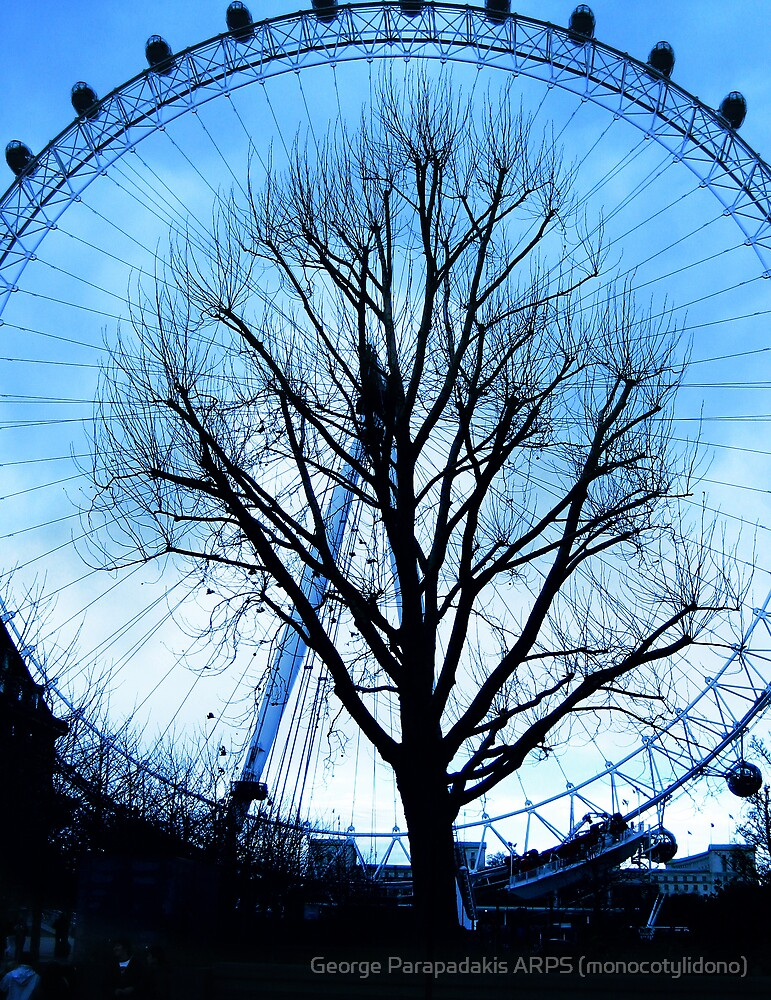 A tree in the Eye of London by George Parapadakis (monocotylidono)