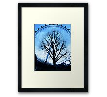 A tree in the Eye of London Framed Print