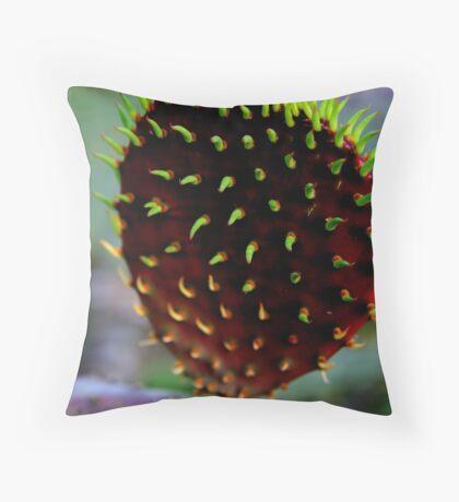 Punk Rock Prickly Pear Throw Pillow