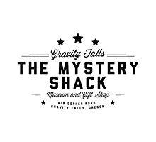 The Mystery Shack Black on White Photographic Print