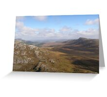 View from Errigal Mountain Donegal Ireland Greeting Card