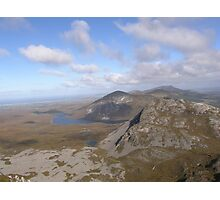 Mountain range view from Errigal Mountain Donegal Ireland Photographic Print