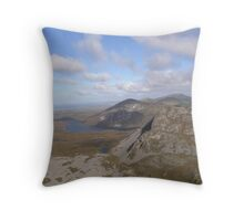 Mountain range view from Errigal Mountain Donegal Ireland Throw Pillow