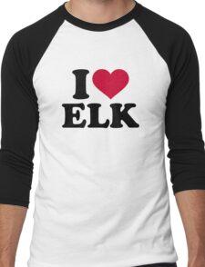 I love elk Men's Baseball ¾ T-Shirt