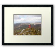 Santa on Errigal Mountain Donegal Ireland Framed Print