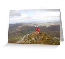 Santa on Errigal Mountain Donegal Ireland Greeting Card