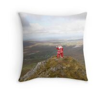 Santa on Errigal Mountain Donegal Ireland Throw Pillow