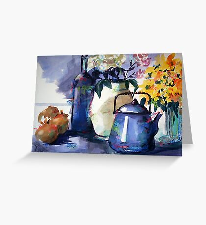 Still Life with Onions Greeting Card