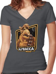 Alfbacca: Cat Wars Women's Fitted V-Neck T-Shirt