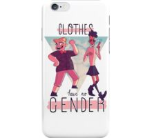 clothes have no gender iPhone Case/Skin