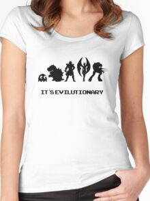 It's Evilutionary (with text) Women's Fitted Scoop T-Shirt