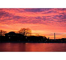 Monumental Sunset Photographic Print