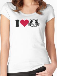 I love Hamster Guinea pig Women's Fitted Scoop T-Shirt