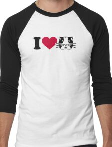 I love Hamster Guinea pig Men's Baseball ¾ T-Shirt