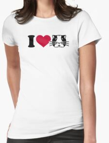 I love Hamster Guinea pig Womens Fitted T-Shirt