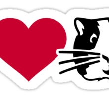 I love Hamster Guinea pig Sticker