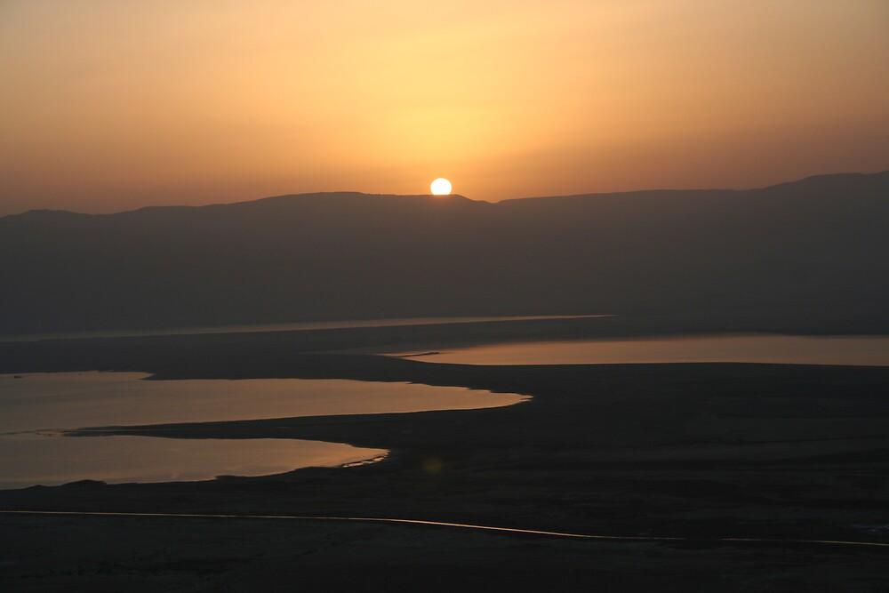 Sunrise from Masad - Dead Sea - Israel by Ilan Cohen