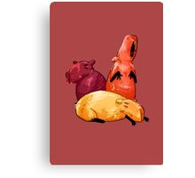 Lounging Capybaras Canvas Print