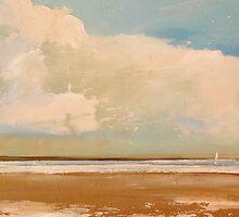 """Freedom"" Modern Beach w Sailboat by ToniGrote"