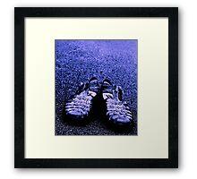 BLUE SANDALS Framed Print