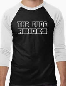 The Dude Abides Funny Geek Nerd Men's Baseball ¾ T-Shirt