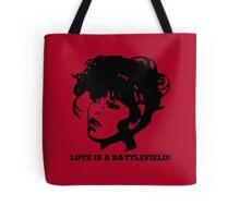 Love=Battlefield Tote Bag