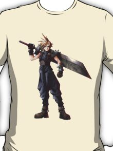 Final Fantasy 7 - FF7 - FFVII - Cloud, with buster sword. T-Shirt