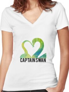 Hook and Swan Women's Fitted V-Neck T-Shirt
