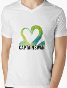 Hook and Swan Mens V-Neck T-Shirt