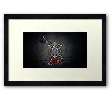 The Legend of Zelda, sword and shield Framed Print