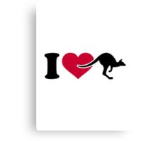 I love Kangaroos Canvas Print