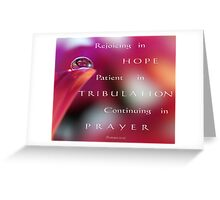 PINK Collection for the Cure - Her faith Greeting Card