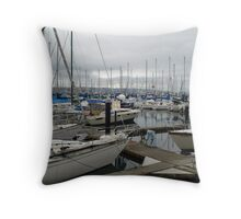 Boats afloat Throw Pillow