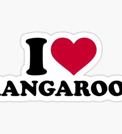 I love Kangaroos Sticker