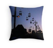 Boardwalk Silhouettes Throw Pillow