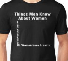 THINGS MEN KNOW ABOUT WOMEN Funny Geek Nerd Unisex T-Shirt