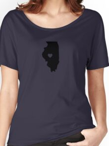 Illinois <3 Women's Relaxed Fit T-Shirt