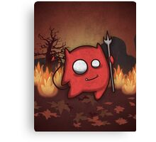 Cute silly monster Canvas Print