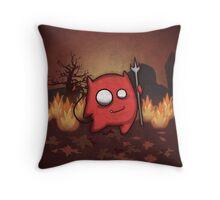 Cute Little Red Devil Throw Pillow
