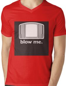 Blow Me - cartridge, funny.  Mens V-Neck T-Shirt