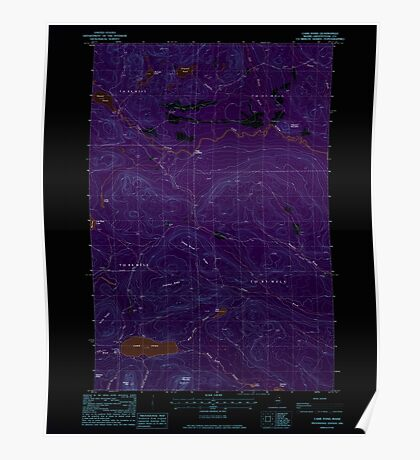 Maine USGS Historical Map Carr Pond 105004 1985 24000 Inversion Poster
