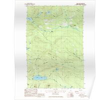 Maine USGS Historical Map Carr Pond 105004 1985 24000 Poster